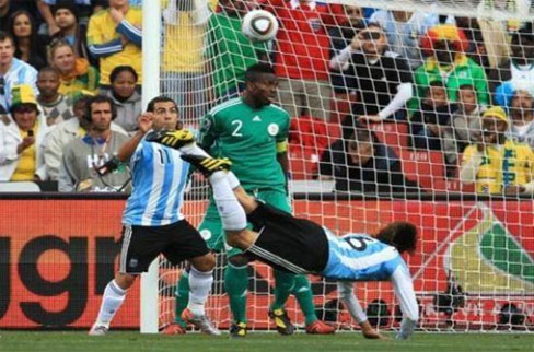 Goal against Nigeria